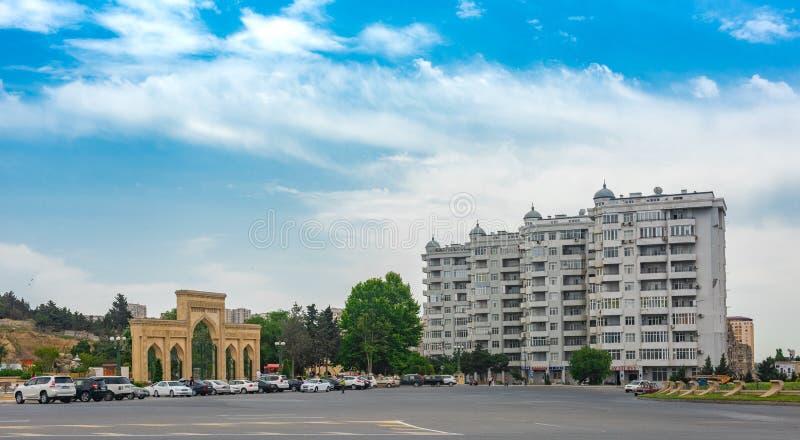 Perspectiva em Baku imagem de stock