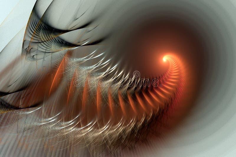 Perspectiva espiral alaranjada fotografia de stock royalty free