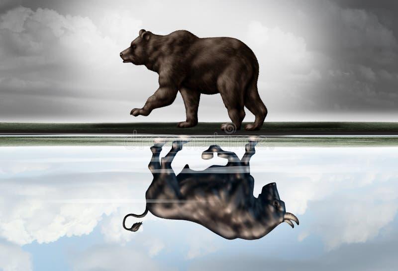 Perspectiva financiera positiva stock de ilustración
