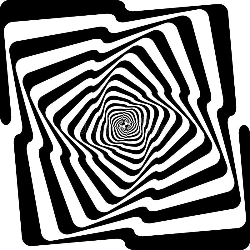 Perspectiva infinita spyral de las escaleras negras de la serpiente stock de ilustración