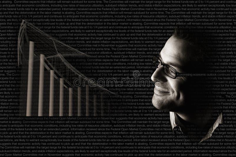 Perspectiva positiva de la economía foto de archivo