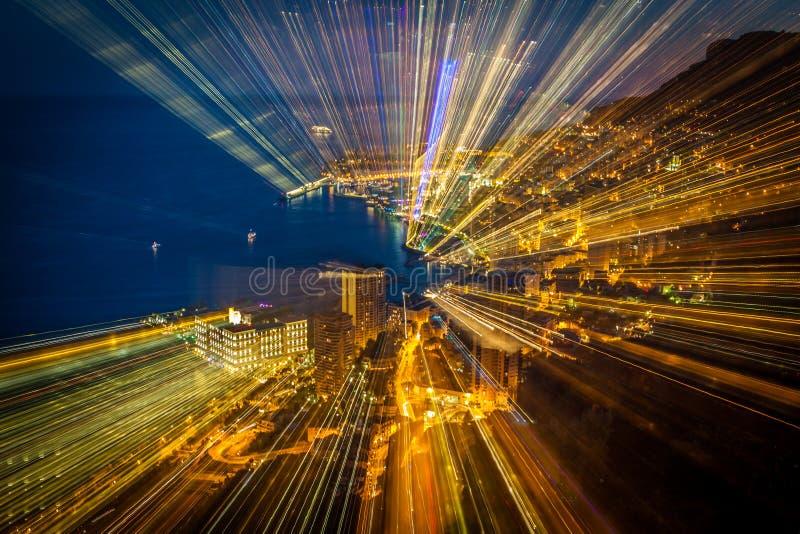Perspectiva radial futurista del fondo de la falta de definición fotos de archivo