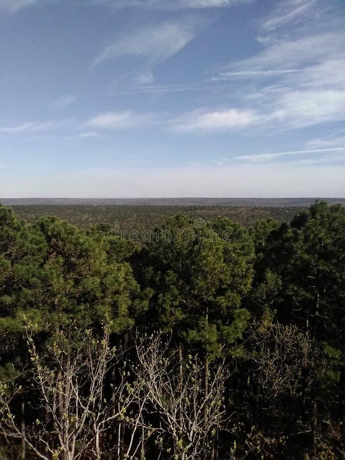 Perspectiva sobre el lado del país en Oklahoma fotografía de archivo