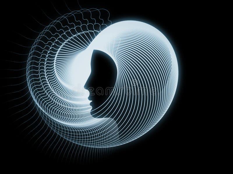 Perspectivas da geometria da alma ilustração royalty free