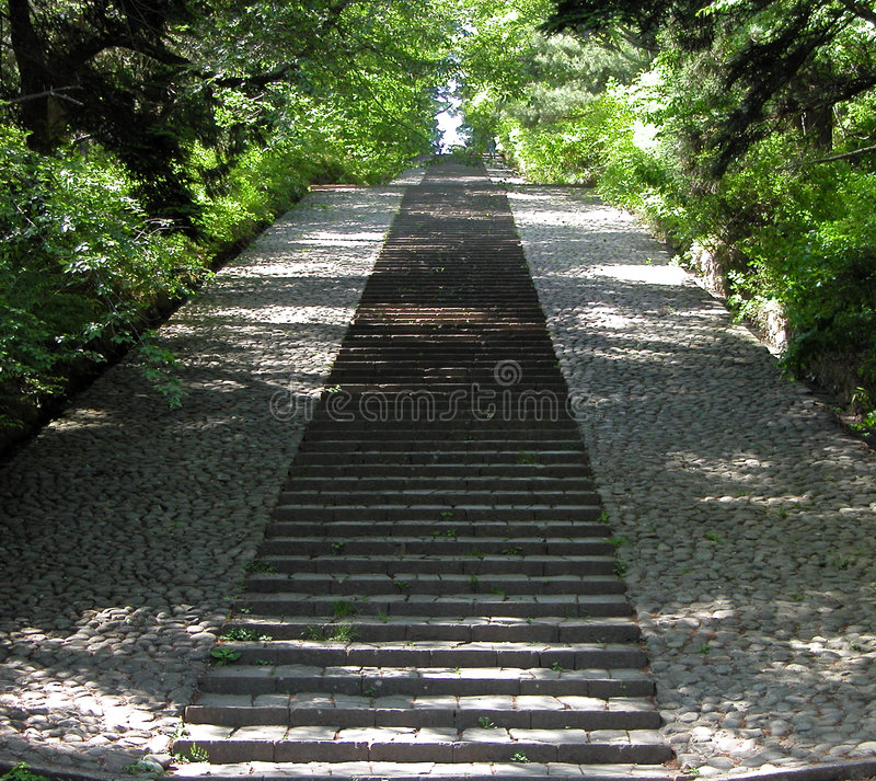 Download Perspective stock image. Image of stairs, postcard, trees - 93611