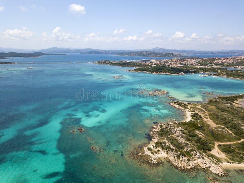 Perspective aérienne au-dessus de La Maddalena images stock