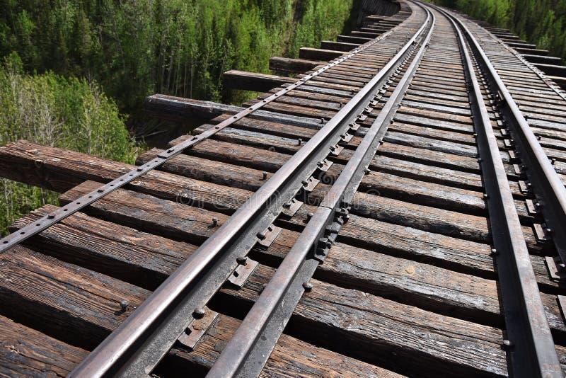 Perspective abandonnée de voie de train photos stock