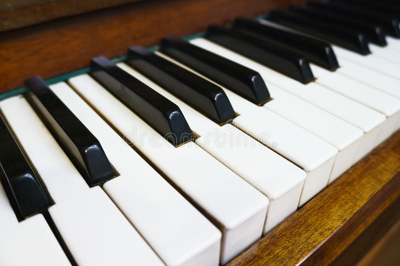 Perspective angle of piano key royalty free stock photography