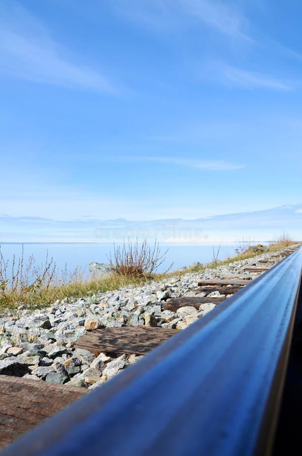 Perspective angulaire de rail image stock