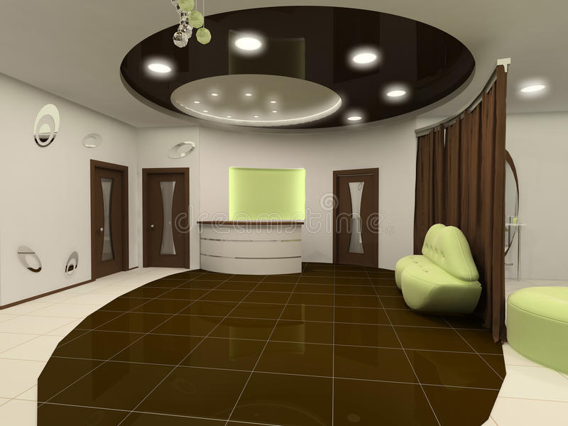 Perspective Ceiling Construction Of Interior Stock Images