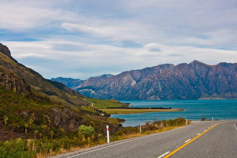 Perspective d'autoroute de route de route image libre de droits