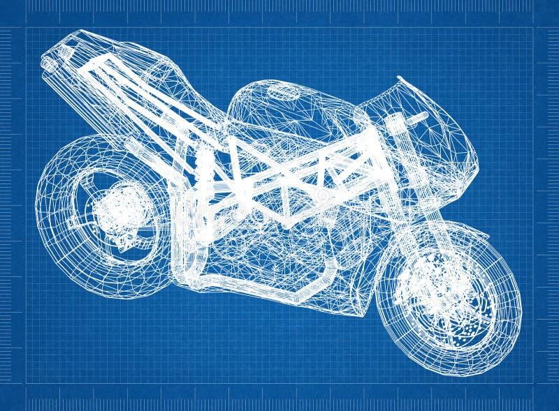 Perspective de 3D d'†de moto de modèle « image stock