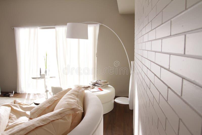 Perspective de mur de briques images stock