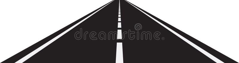 Perspective de route incurvée illustration libre de droits