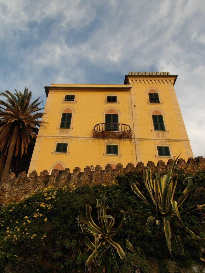 Perspective de villa de Sestri Levante photos libres de droits