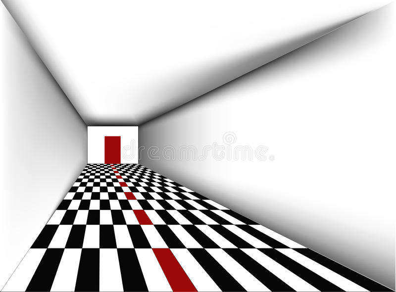 Download Perspective Empty Room With Door Vector Stock Vector - Image: 16335601