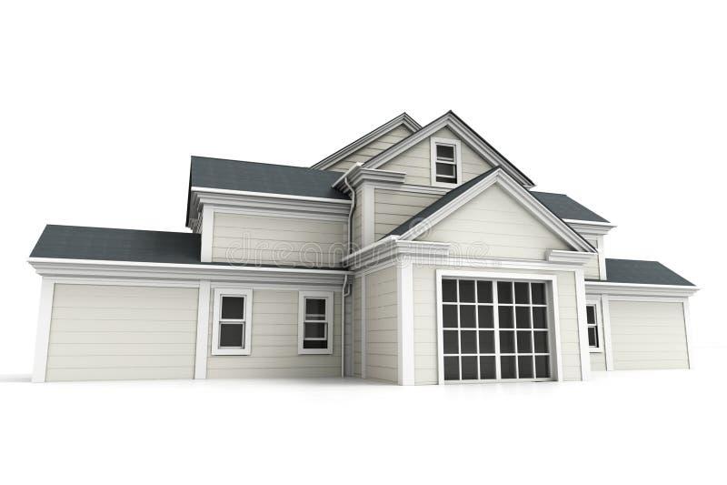 Perspective frontale de maison impressionnante illustration de vecteur