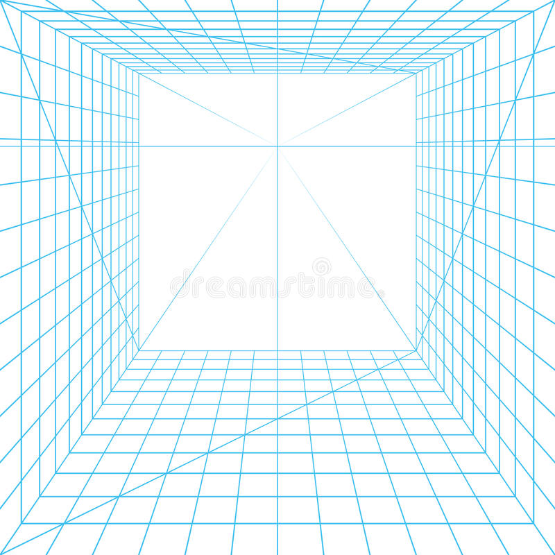 Perspective grid royalty free illustration