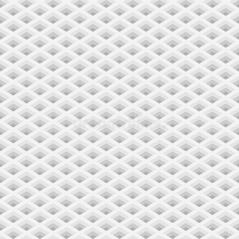Perspective grid with square holes seamless pattern royalty free illustration