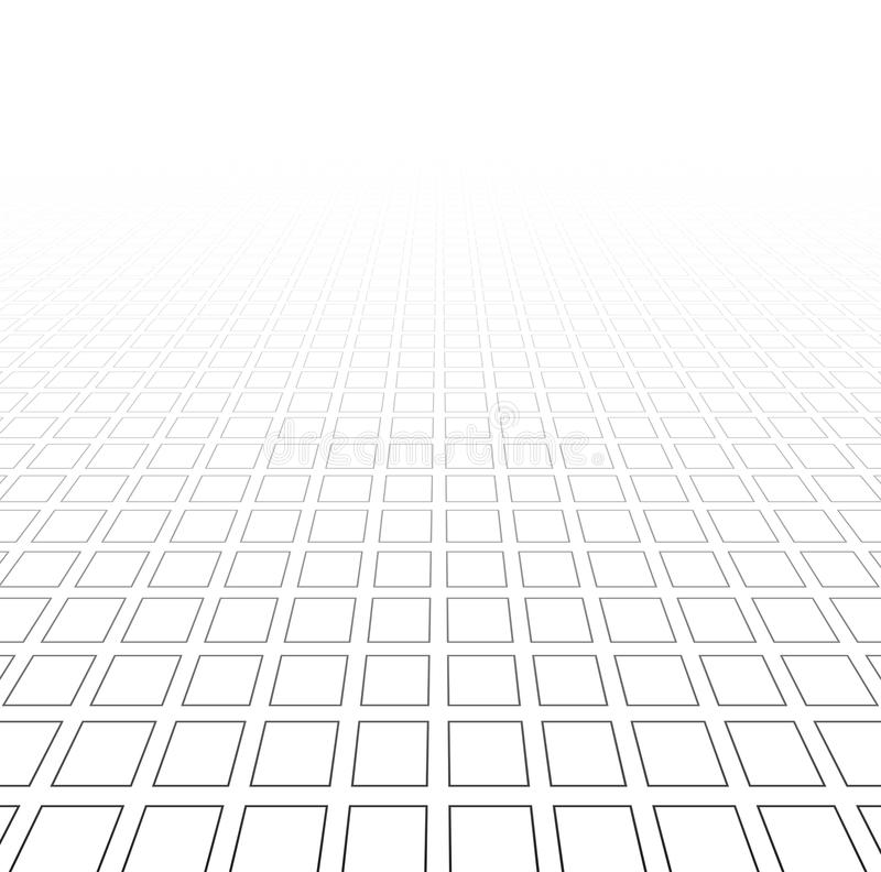 Perspective grid surface. stock photo