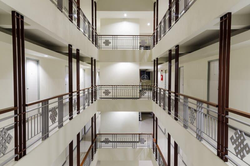 Perspective of long walkway royalty free stock image