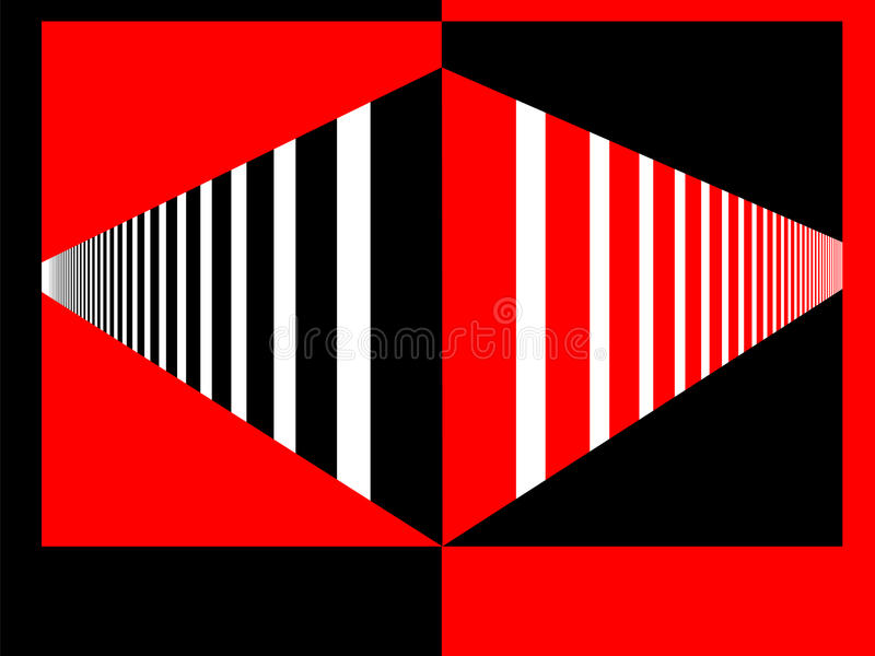 Perspective Red and Black royalty free stock photos