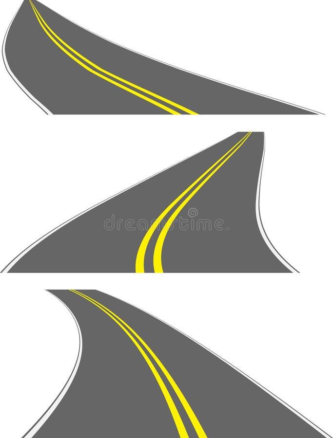 Perspective roads stock illustration