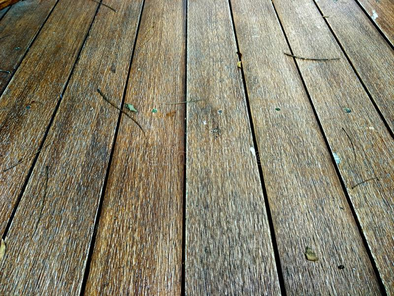 A perspective shot of an old wooden texture background, close-up stock photo