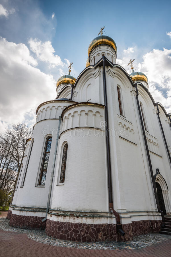 The perspective of the St. Nicholas cathedral royalty free stock images