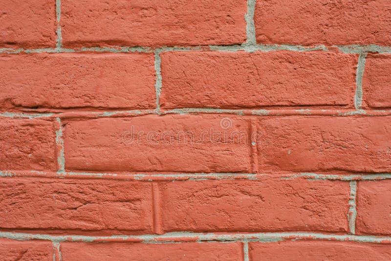 Perspective ?troite de mur de briques rouge images libres de droits