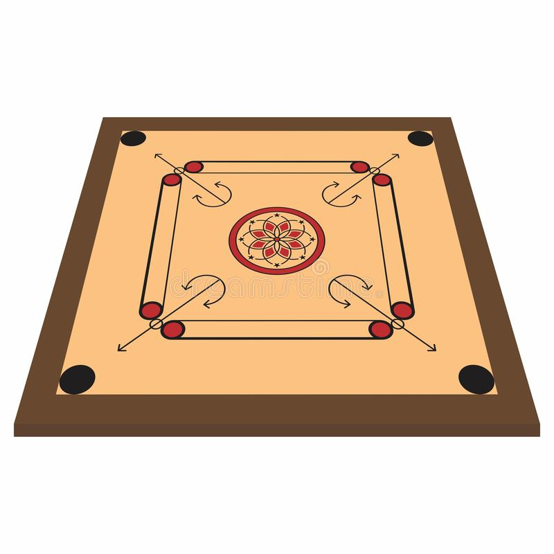 Perspective view of various family game board, carrom board. vector illustration