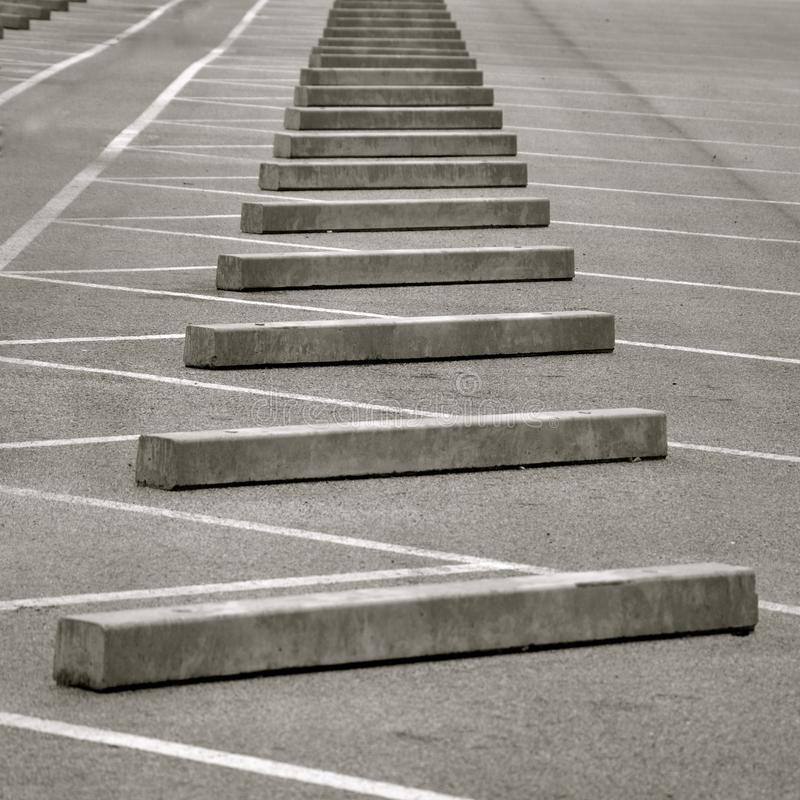 Perspective view of concrete kerb stones stock photography