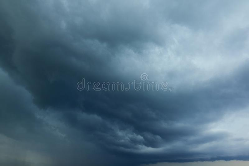 Perspective view of dramatic grey rainy sky with white grey clouds. Rain sky clouds. High resolution artistic skyline background i royalty free stock images