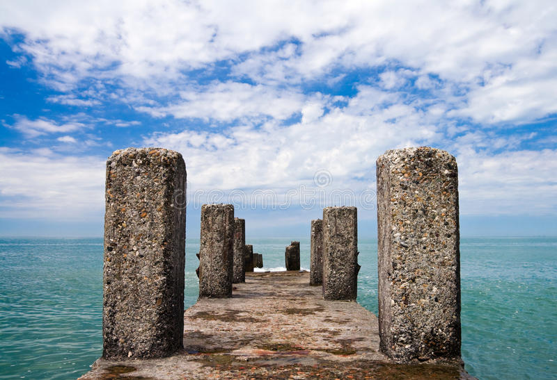 Download Perspective View Of An Old Pier Stock Photo - Image: 16053006