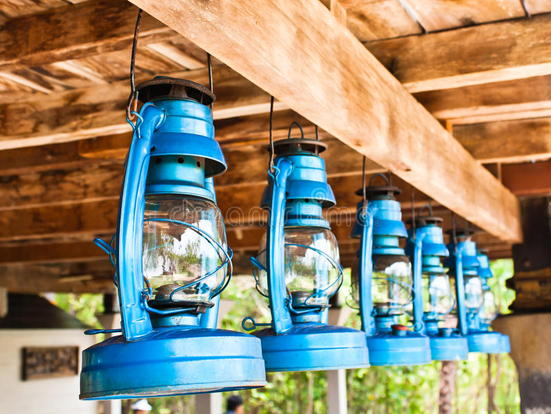 Perspective View Of Storm Lanterns Royalty Free Stock Images