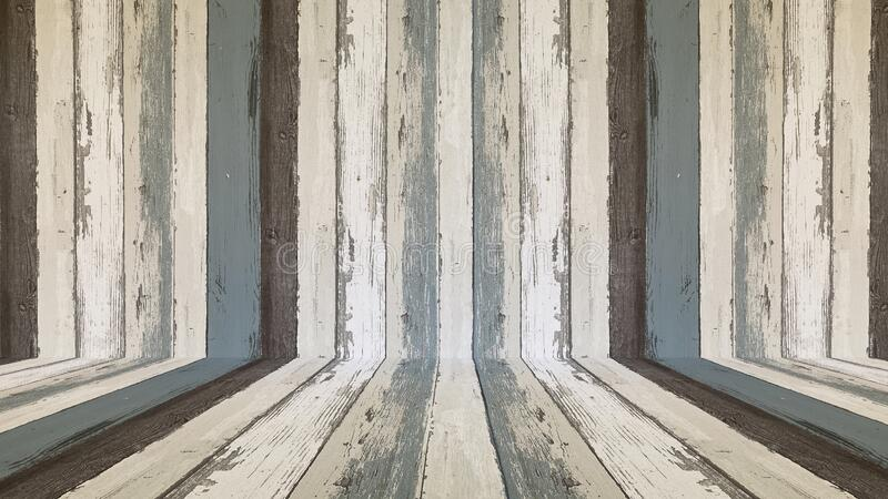 Perspective wood floor wall texture background; timber wood wall.  stock photography