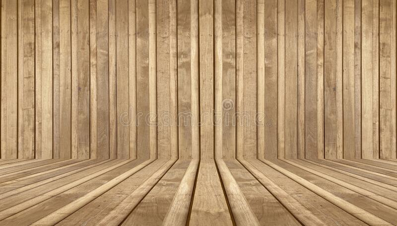 Perspective wood floor wall texture background; timber wood wall.  stock images