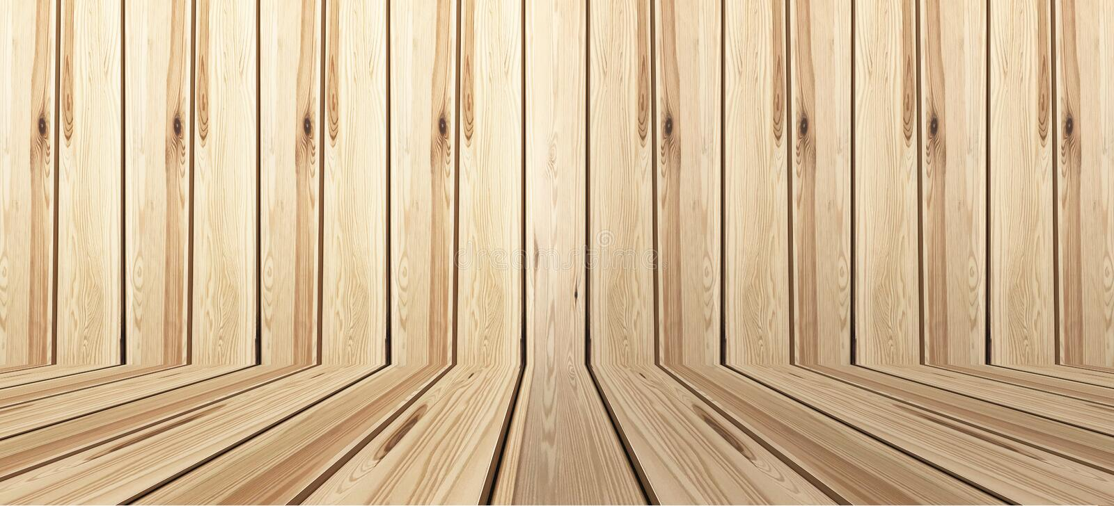 Perspective wood floor wall texture background ,timber wood wall.  stock photos