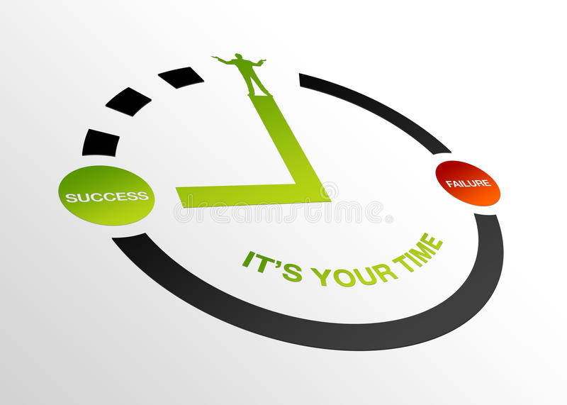 Perspective Your Time vector illustration