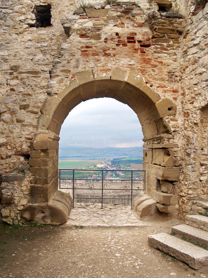 Perspectives de château ruiné de Spissky photo libre de droits