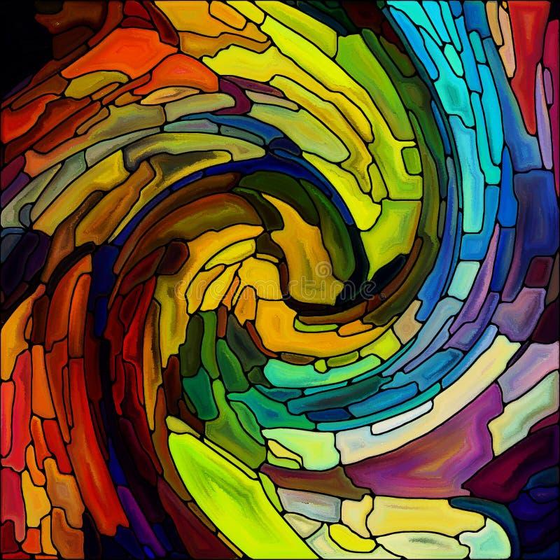 Perspectives de couleur en spirale illustration libre de droits