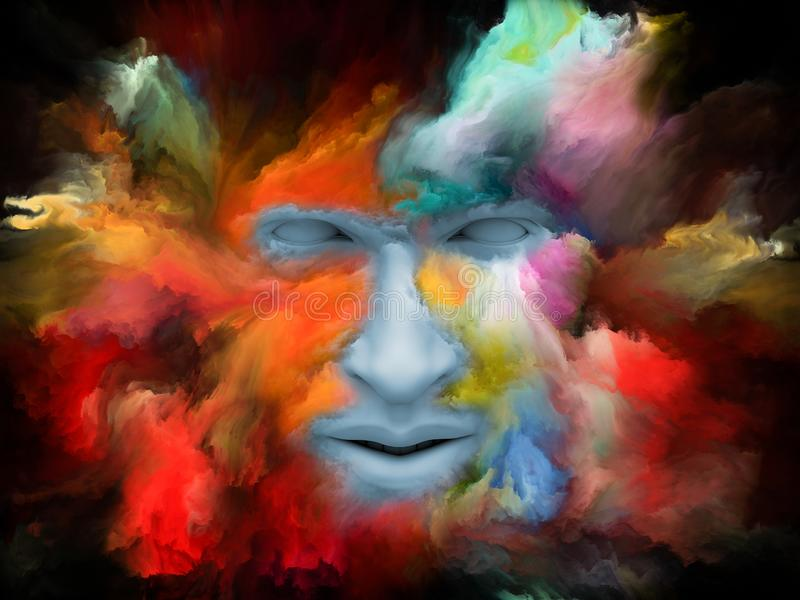 Perspectives de rêve peint illustration stock