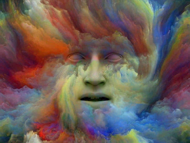 Perspectives de rêve peint illustration de vecteur