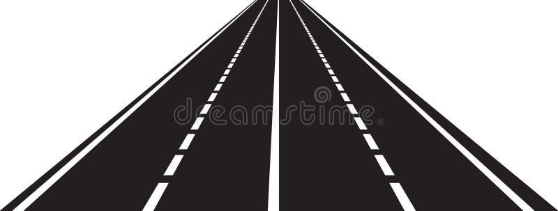 Perspektiv av den krökta vägen royaltyfri illustrationer