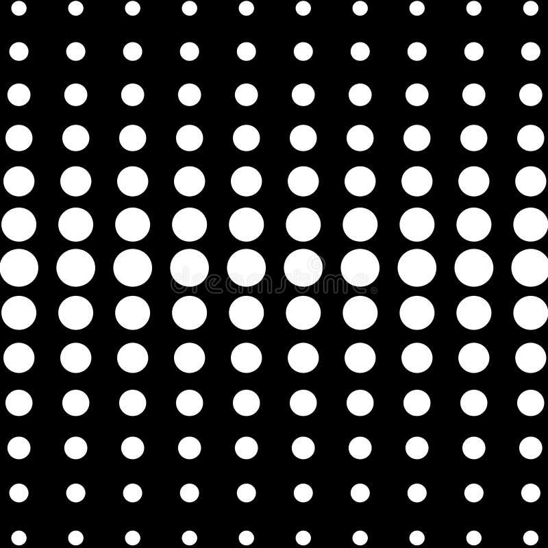 Perspektiv av den svartvita optiska illusionen f?r fractalsf?rer royaltyfri illustrationer