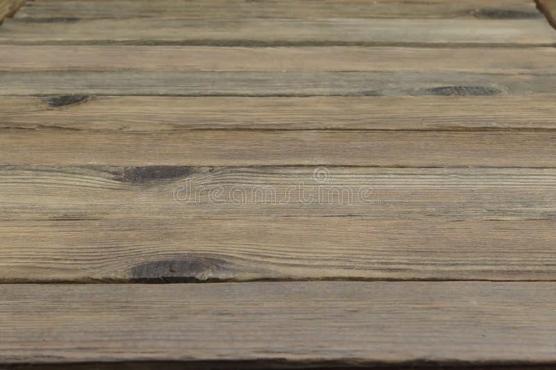 Perspektiv av lantliga Wood plankor eller tabell eller golv arkivfoto
