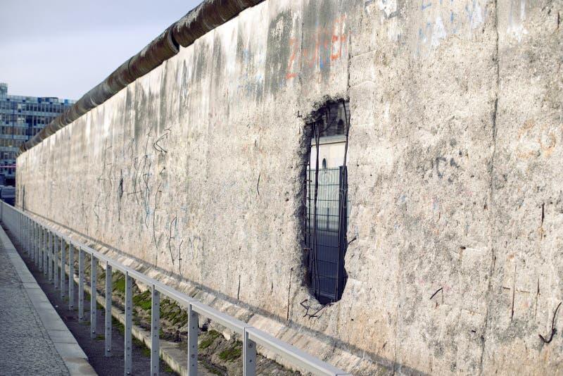 Perspektiv för Berlin vägg royaltyfri fotografi