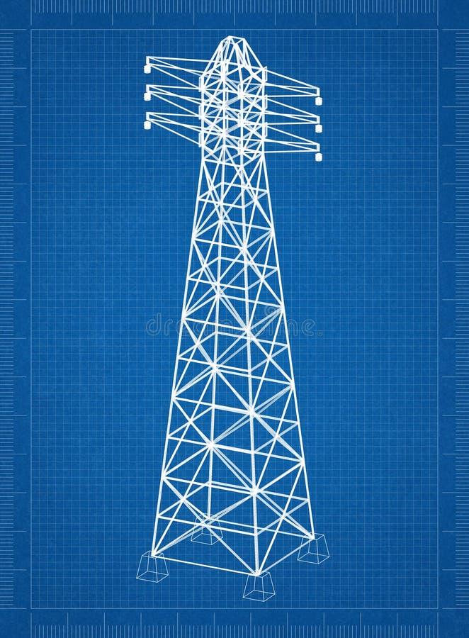"""Perspektiv för 3D för tornritning†"""" stock illustrationer"""