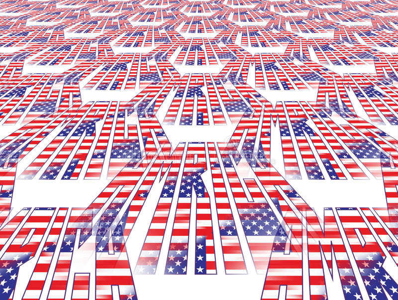 Perspektive-amerikanische Flagge Lizenzfreies Stockfoto