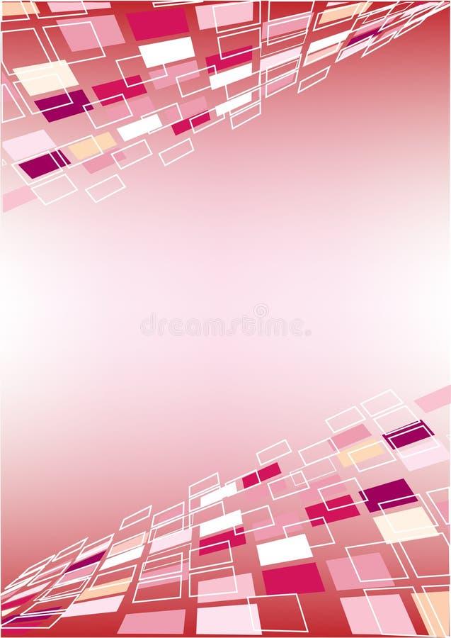 Perspektive-rosafarbener Hintergrund lizenzfreie abbildung